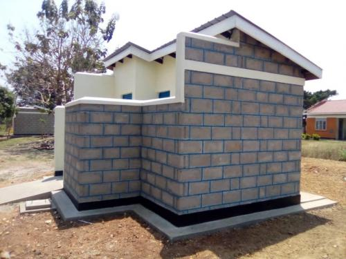 4 stance latrine for ladies at Mungula HC
